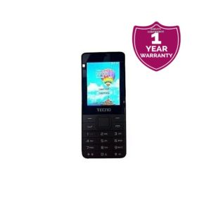 T371 Dual Sim Mobile Phone, FM Radio, Camera with Flash, (23 Days Battery Standby Time) - Black