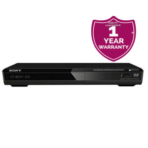 DVD Player DVPSR370 With USB Connectivity, CD-R/RW, DVD+RW/+R/+R DL, DVD-RW/-R/-R DL (including 8cm DVD), JPEG, MP3, MPEG-4, WMA, AAC & Linear PCM.- Black