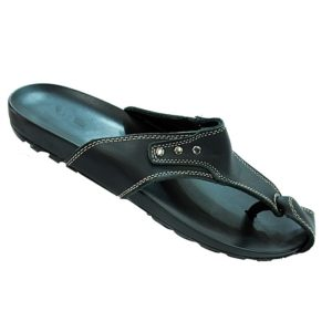 ORIGINAL LEATHER BLACK SANDALS FOR MEN
