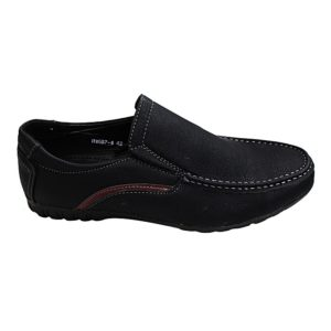 Black Thread Detail Loafers