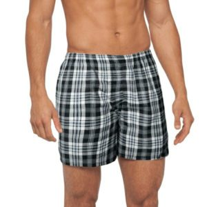 BLACK & WHITE SQUARE MEN BOXER