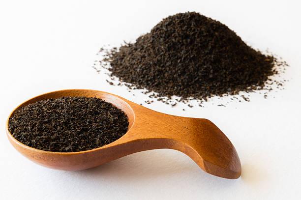 dust tea leaves