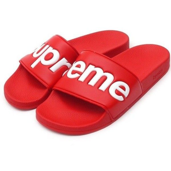Supreme Flip Flop Slippers Red
