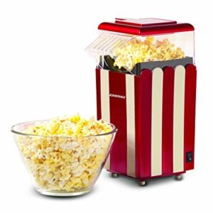 Popcorn Maker Machine, 1200W Healthy Hot Air Popcorn Popper, No Oil Needed