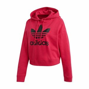 Adidas Women Originals LEOFLAGE Crop Hoodie Pride Pink DX4301
