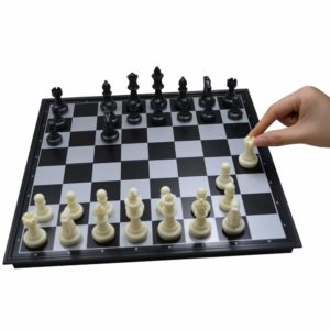 Seatrend Portable Magnetic Chess Set, Travel Chess Folding Board Game for Adults and Kids, Classic Black and White, 12.6inch