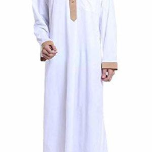 Coolred-Men Assorted Colors Islamic Regular Fit Arab Thobe Muslim Shirt