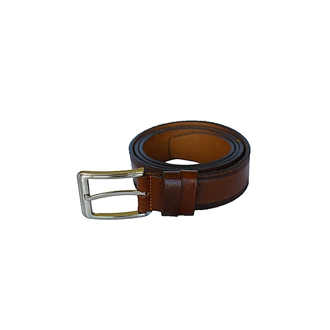 MEN COFFEE BROWN ORIGINAL LEATHER BELT