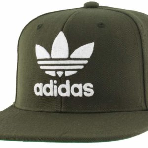 Adidas Men's Originals Trefoil Chain Snapback Cap Army Green