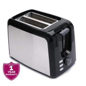 Moulinex LT340827 Compact Stainless Steel 2 Slice Toaster - Black, Silver