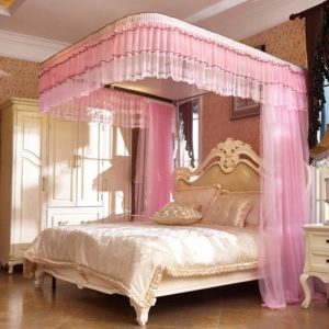 Free-Standing Pop-Up Mosquito-Net,Luxury Mosquito Net for Bed Canopy, Large Tent for Double to Queen Size, Finest Holes, Square Netting Curtain, 3 Entries, Easy to Install,L2,200220cm