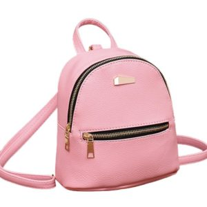 Clearance! Women Girls PU Leather School College Backpack Rucksack Purse Mini Shoulder Travel Bag Satchel (Pink)