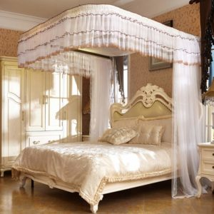 Free-Standing Pop-Up Mosquito-Net,Luxury Mosquito Net for Bed Canopy, Large Tent for Double to Queen Size, Finest Holes, Square Netting Curtain, 3 Entries, Easy to Install,L5,200220cm