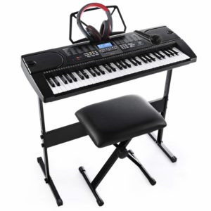 Electronic Keyboard Pack with Headphones,Microphone,Stand,Stool,and Power Supply