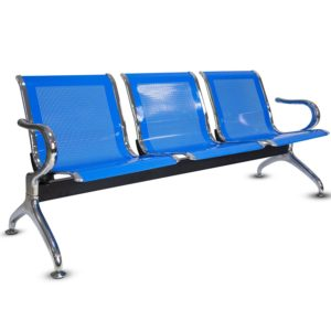 3 SEATER BLUE WAITING CHAIR