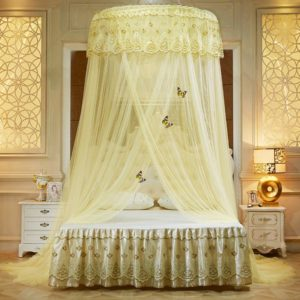 Dome Mosquito Net,Luxury Bed Canopy Mosquito Net Free Installation for Decoration-e King