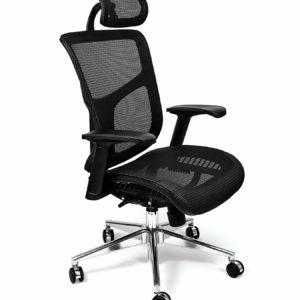 Mesh Office Chair Dreem II Mesh Series, Black Mesh, Chrome Base (Headrest)