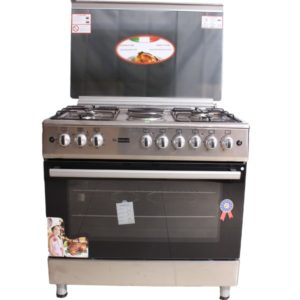 E9042FER 90*60CM COOKER WITH 4 GAS BURNERS,2 ELECTRIC BURNERS AND AN ELECTRIC OVEN.