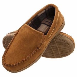 Men's Memory Foam Suede Slip On Indoor Outdoor Venetian Moccasin Slipper Shoe