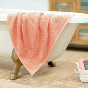 Bath Towel Quick Dry And Double Stitch Line (Pink)