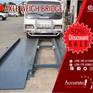 200 tons double deck trucks axle scales with 100 tons capacity for sale at a supplier shop Wandegeya