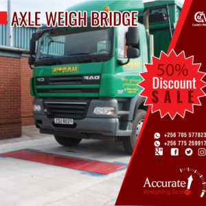 Axle trucks scales with estimated 40 hours operating from sole distributor Uganda