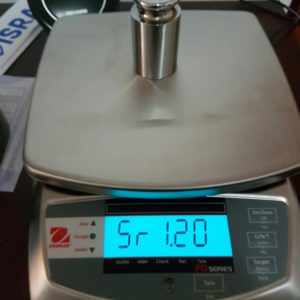 Calibrated shop 15kg table balance