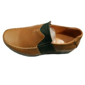 MEN SYNTHETIC BROWN SHOES