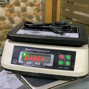 Table top digital weighing scales
