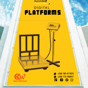 Industrial platform weighing scale IP67 load cell protection in store Wandegeya