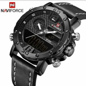 NAVIFORCE WATCH WITH LEATHER STRAP