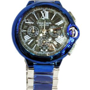 CARTIER SILVER/BLUE ORIGINAL WATCH