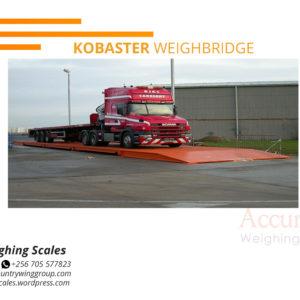 Temporary vehicle weighbridge with external display monitor Iganga Uganda