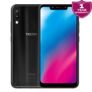 "Tecno Camon 11 Pro - 6.2"", 6GB RAM, 64GB, 16MP Camera (Dual SIM) – Black"