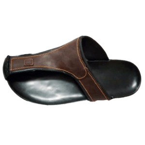 MEN ORIGINAL RUBBER-BROWN LEATHER SANDALS