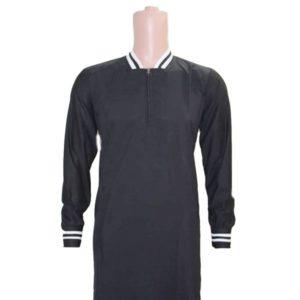 MUSLIM MEN BLACK DRESS/ KANZU WITH SWEATER ARMS