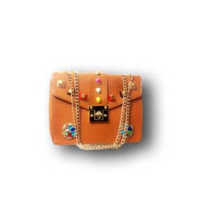DECORATED COOL HANDBAG -ORANGE