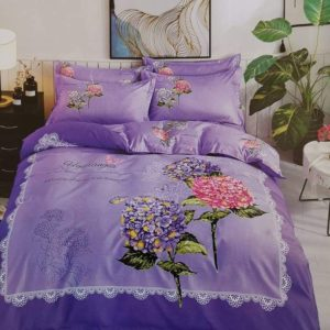 BED-COVER PURPLE FLORA