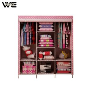 Wholesale custom mobile fabric wardrobe furniture, foldable wardrobe