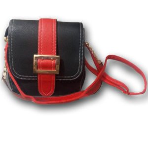 RED AND BLACK FASHION BAG
