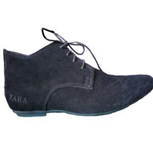 Zara Suede Plain Toe Lace Up Oxford Shoes Mens