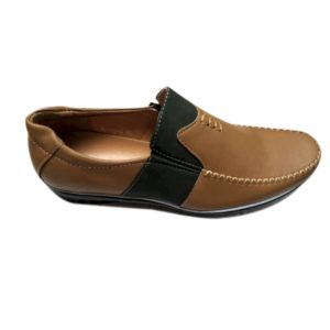MEN BROWN SYNTHETIC LEATHER SHOES