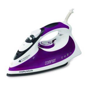 Morphy Richards White And Purple M400 Speed Heat Steam Iron