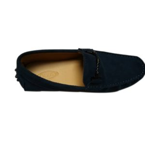 TODS NAVY BLUE MEN MOCCASINS