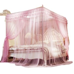 Mosquito net with straight metallic stands - Pink 4*6 5*6 6*6