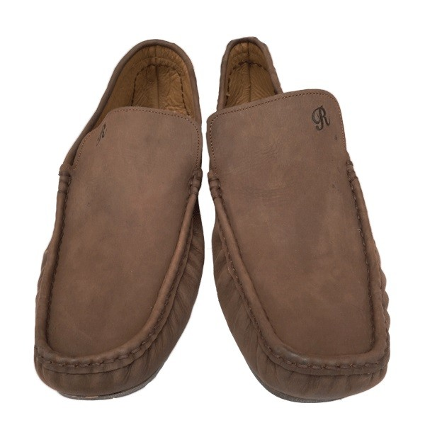 Tolani Brown Leather Moccasines