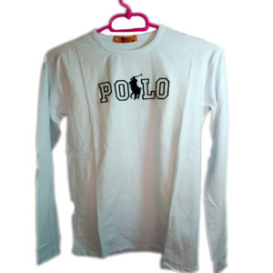 POLO Brand White Long Sleeve T-shirt