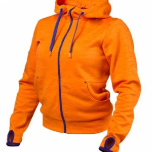 Women's Hoodie Jumper  Orange And Blue