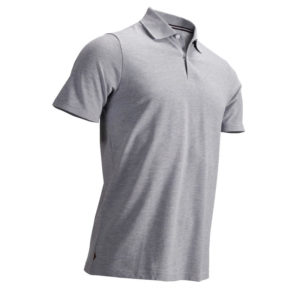 Plain  Male Polo T-Shirt Grey