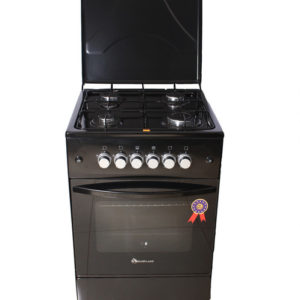 Blue flame cooker 50 by 50 cm full gas black